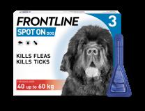 Frontline Spot-On Flea & Tick Treatment Dog 40-60kg - 3 Pack