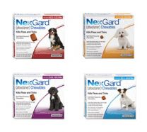 NexGard Chewable Tablets for Dogs <4kg - 3 Pack