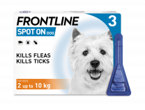 Frontline Spot-On Flea & Tick Treatment Dog 2 -10 Kg - 3 Pack