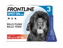 Frontline Spot-On Flea & Tick Treatment Dog 40-60kg - 3 Pack
