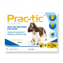 Prac-tic Spot-On for Medium Dogs - 3 Pack